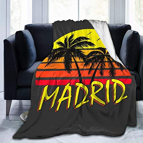 haoqianyanbaihuodian Madrid, manta de franela de forro polar, ligera, ultra suave, cálida, para sofá