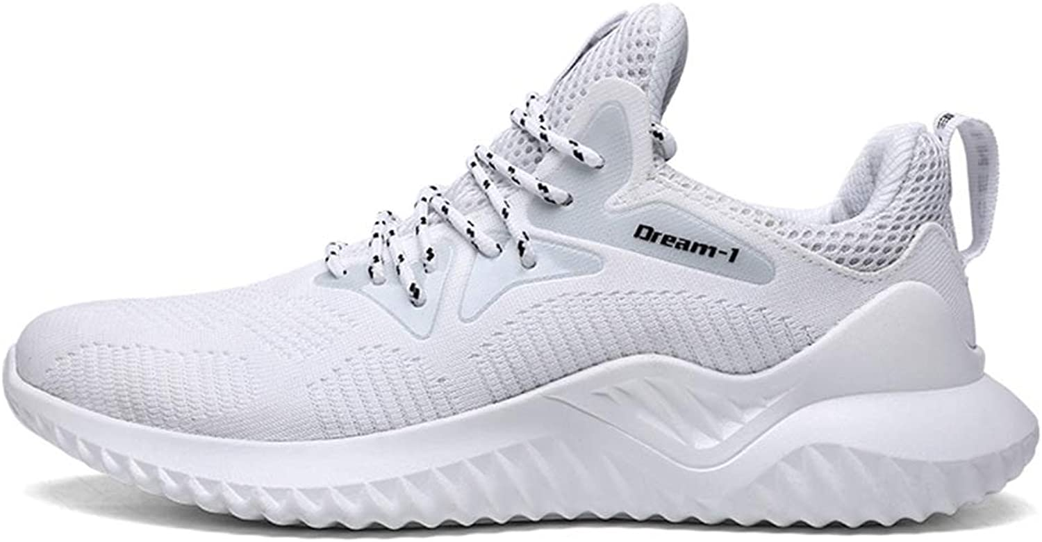 TOOSBUY Men & Women Breathable Running Sport Tennis shoes,Beach Aqua, Outdoor,Athletic,Rainy,Skiing,Walking,Slip on Water,Flat Casual shoes (12 D(M) US, AllWhite)
