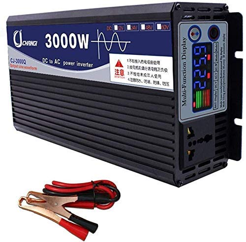 Autokonverter 3000W Reine Sinus-Wechselrichter Gleichstrom-Wechselrichter DC 48V / 60V zu AC 220V Hocheffizienter Wechselrichter für Smartphones Tablet Laptop 48V-5000W, 4000W, 60V für Wohnmobile