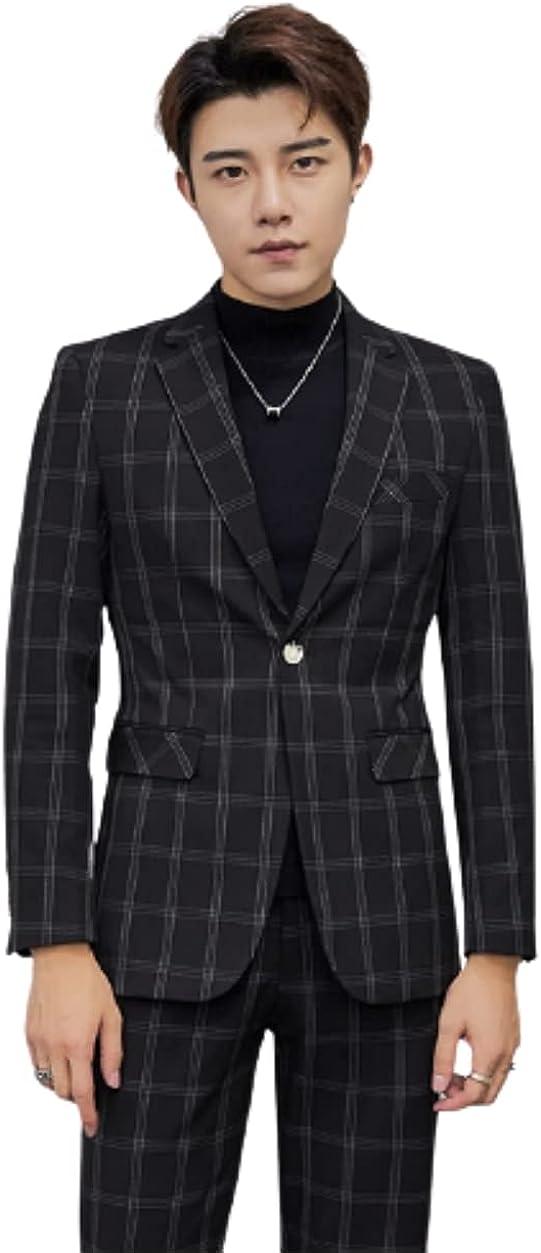 Men's Business Suits Slim Fit 2 Pieces Wedding Tuxedos Blazer Wedding Suit Jacket & Pants