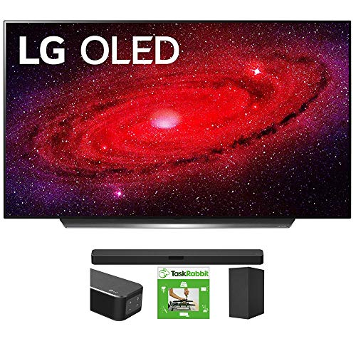LG OLED77CXPUA 77-inch CX 4K Smart OLED TV with AI ThinQ (2020) Bundle SN5Y 2.1 Channel High Res Audio Sound Bar with DTS Virtual:X and Taskrabbit Installation Service