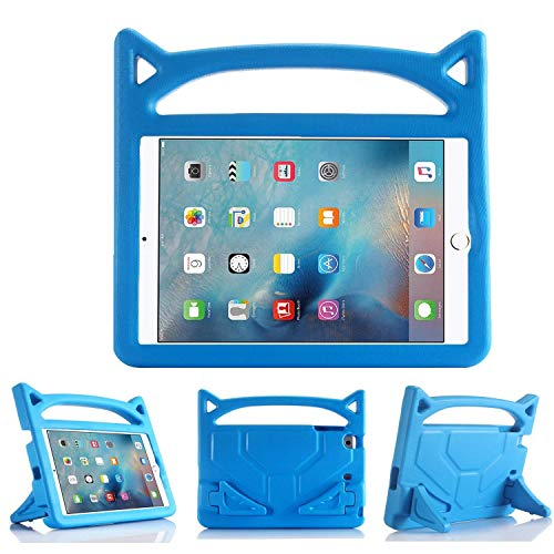 iPad 9.7 Inch Case - Shockproof Case Light Weight Kids Case Cover Handle Stand Case for iPad 9.7 Inch 2017/2018 (air,air2)(9.7'Case(2017/2018), Blue)