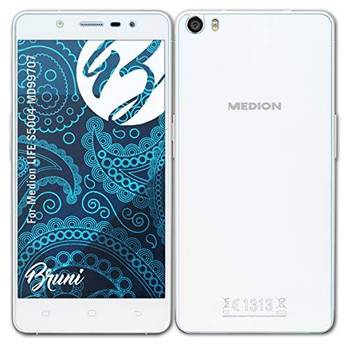 Bruni Schutzfolie kompatibel mit Medion Life S5004 MD99707 Folie, glasklare Bildschirmschutzfolie (2er Set)