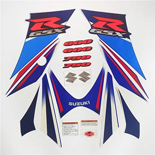 Motocicleta para Suzuki G-SXR 600 750 GSXR600 GSXR750 06-07 K6 K7 2006 2007 Kit completo Pegatina Calcomanía Protector decorativo (Color : 2 style)