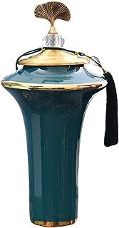 Ceramic Vase Vase European Light Home Model Room Decoration Ornaments Living Room Flower Artificial Flower Decoration (Siz...