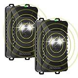 Repelente Ultrasonico de Ratas Coche, Winzwon ahuyentador de Ratas con Linterna LED, 18-36 kHz Frecuencia Roedores Repelente, 2 Piezas