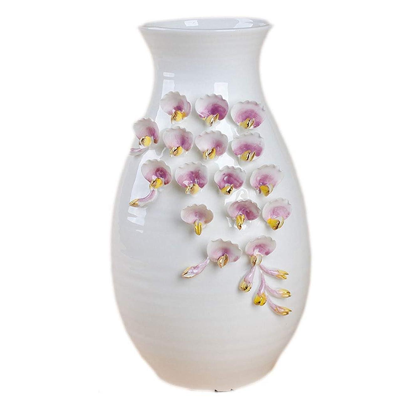 心のこもったおびえたペット花瓶 セラミックセラミッククリエイティブ現代のミニマリストの手作り陶器フラワーアレンジメント美しいパターンのホームデコレーションオーナメント (Size : C)