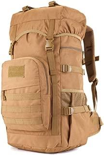 Mountaineering Bag, Duffel Bag, Canvas Shoulder Bag, 55L, Classic Black, Large Capacity, Travel Essential (Color : Brown)