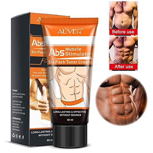 Crème de muscles abdominaux pour hommes ALIVER Anti-cellulite Minceur Crème brûlante pour les graisses Corps Raffermissant Renforce les muscles abdominaux Resserrement musculaire abdominale Crème