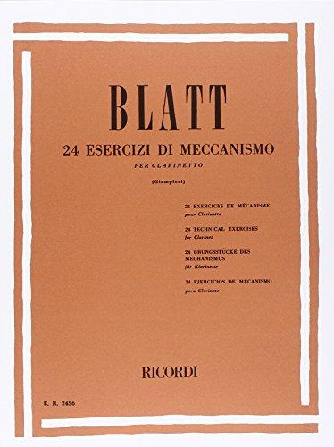24 Esercizi di Meccanismo. Klarinette