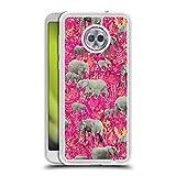 Head Case Designs Oficial Micklyn Le Feuvre Pequeños Elefantes Animales 2 Caso de Purpurina Líquido Híbrido Transparente Compatible con Motorola Moto G6 Plus