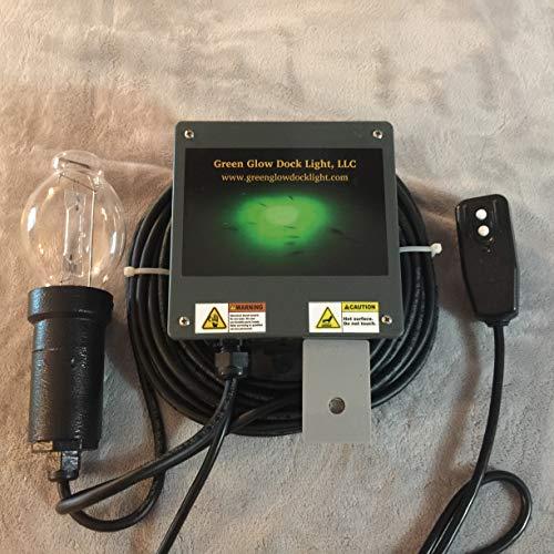 14,000 Lumens, Saltwater or Freshwater Green Underwater Fish Light Kit w/50' Lamp Cord