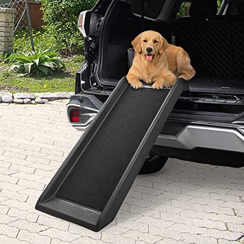 "COZIWOW 40""L Heavy Duty Portable Dog Ramps for Medium Dogs SUV, Truck Car Ramp Stairs Step Ladder for Pet, Non-Slip Design for Pool Boat"