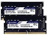 Timetec Hynix IC Arbeitsspeicher für Laptop, Notebook, 16 GB KIT (2 x 8 GB), DDR4, 2400 MHz, PC4-19200, ungepuffert, nicht-ECC, 1,2 V, CL17, 1Rx8, Single Rank 260-polig, SODIMM