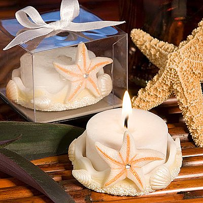 Starfish Design Favor Saver Candles, 72