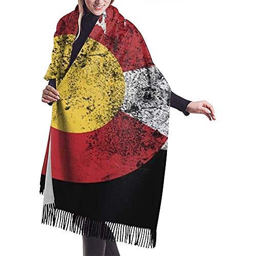 Colorado Flag Moutain Frauen 'S Decke Winter Schal Warm Wrap