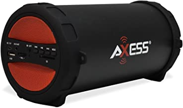 AXESS SPBT1041 Portable Thunder Sonic Bluetooth Cylinder Loud Speaker with Built-In FM..