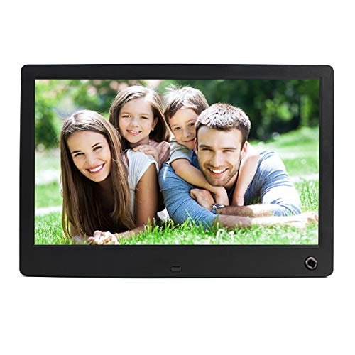 Digital Picture Frames,12 Inch Electronic Picture Frames HD 1024x800 16:9 LCD Screen Photo Frame Slideshow,720P/1080P Video Picture,Motion Sensor,Music Background,SD/USB Port,Remote Control-Black