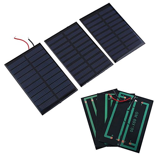 Gulin Panel Solar Pequeño de 5V 0.8W Módulo DIY Polysilicon Solar Cell Panel