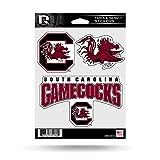 NCAA Rico Industries Die Cut 3-Piece Triple Spirit Sticker Sheet, South Carolina Fighting Gamecocks