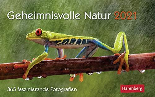 Geheimnisvolle Natur - Premiumkalender 2021 - Harenberg-Verlag - Tageskalender mit 365 faszinierenden Fotografien - 22,8 cm x 16,8 cm - Germany - Deutschland-Kalender