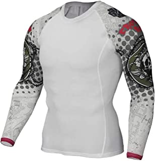 Dri Fit White Compression Top Mens Long Sleeve Gym T Shirts