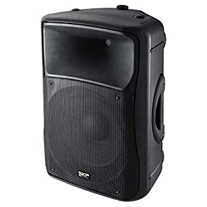 "SKP PRO AUDIO SK-4P BK Powered Loudspeaker, 15"", Bluetooth, 1000W MAX, 2 Way, Bluetooth, USB SD port. One Speaker"