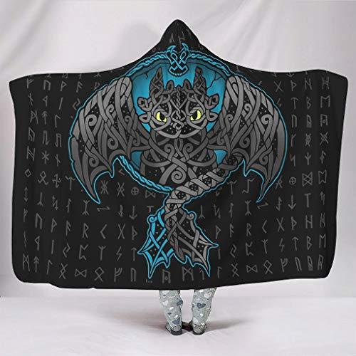 Go Go Grifendoor Manta con capucha portátil, sudadera portátil para adolescentes, para otoño, blanco, 150 x 200 cm