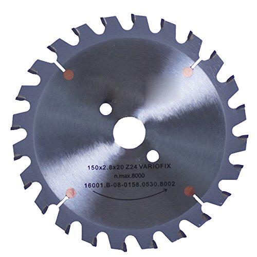 Connex COM361603 hand-/tafelcirkelzaagblad, hard metaal, Varioline-precisie-uitvoering, 160 x 20/16 mm, 24 tanden
