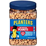Pack of 1, 32.5 oz. jar of Planters Dry Roasted Peanuts Planters Dry Roasted Peanuts quell cravings with satisfying crunch Dry roasted peanuts seasoned with salt for irresistible flavor 7 grams of protein per 1 oz. serving Cholesterol free and trans ...