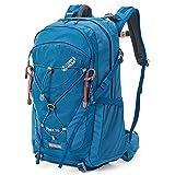 Terra Peak Flex 30 Trekkingrucksack blau 30 Liter Volumen Skirucksack moderner survival Rucksack zum trekking mit Regenhülle und gepolstertem Tragesystem optimal für lange Touren