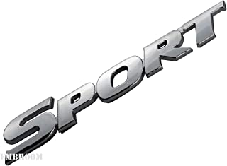 EmbRoom Sport Emblem, Car Letters Decal Sticker for Auto Motorcycle Badge Vehicle Decoration (Chrome)