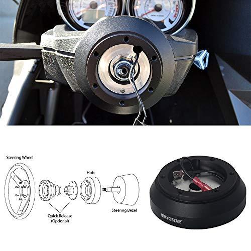 Kyostar 6-Bolt Aluminum Steering Wheel Short Hub Adapter Boss Kit For Mazda Miata RX-7 Kia 160H