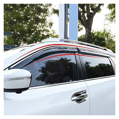 WRDD Windabweiser Für Nissan X-Trail T32 / Rogue 2014-2019 4 Stücke Fenster Visier Entlüftungsschatten Sun Rain Guard Deflectors HXJH Autofenster Regenschutz