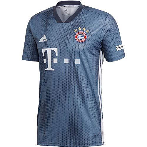 adidas Herren 18/19 FC Bayern 3rd Trikot, raw Steel/Utility Blue/White, M