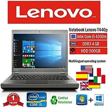 NOTEBOOK RICONDIZIONATO LENOVO T440p INTEL i5 4300M/4GB/500GB/DVD+RW/WIN 10 PRO (Ricondizionato)