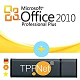 MS Office 2010 Professional 32 bit & 64 bit - Original Lizenzschlüssel mit USB Stick von - TPFNet®
