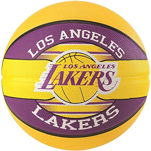 Spalding NBA Team L.A. Lakers 83-510Z Balón de Baloncesto, Multicolor, 7