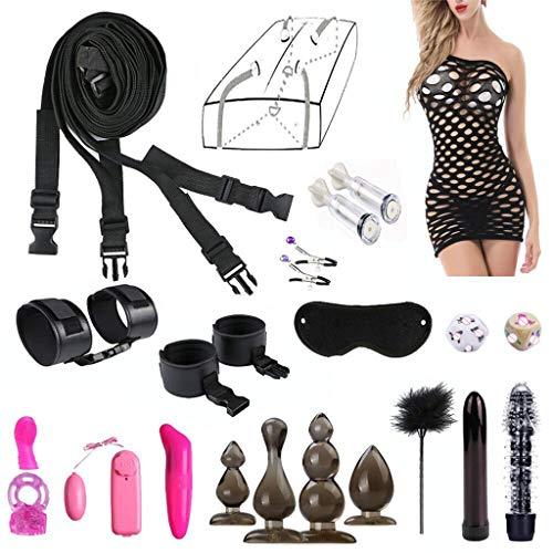 MALLdor Adult Fun 18PCS/Set Bed Game Play Set Binding Sex Games Toys For Couple Kits