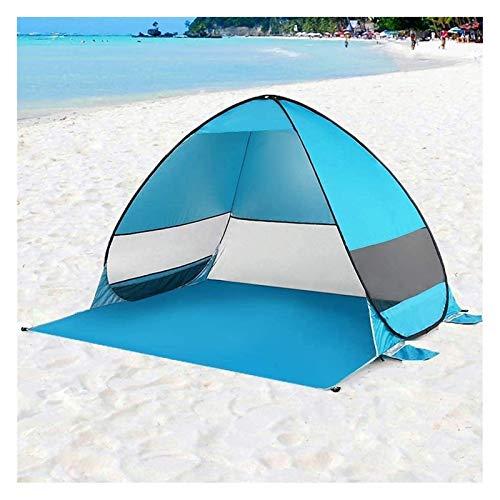 Tienda de campaña para Camping al Aire Libre Configuración fácil Arriba Pop Up Beach Tienda Tienda Familiar a Prueba de Viento, Cabana automática Portátil (Color : Blue, Size : 200x165x130cm)
