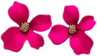 Niome Women's Girls 3D Flower Ear Stud Resin Earrings Wedding Party Jewellry Accessory