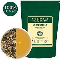 Manzanilla con hojas de té verde de los Himalayas (100 tazas) 100% té de manzanilla natural - calmante, refrescante y tranquilizador, té de la hora de dormir, 200g