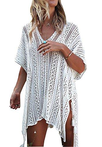 Walant - Vestido de playa con encaje, para mujer, traje de baño