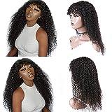 Ur Beautiful 8A pelucas de pelo humano rizado curly wigs curly human hair wigs no lace front pelucas rizado brasileñas natural color 22 pulgadas