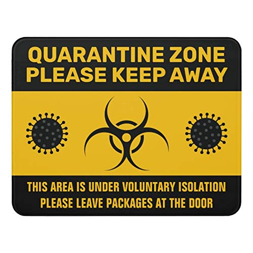 McC538arthy Tin Signs for Coronavirus Quarantine Isolation Zone Door Sign Metal Sign Indoor Outdoor Holiday Vintage Style Metal Poster Plaques for Funny Wall Decoration Art Sign Gifts - 8x12''
