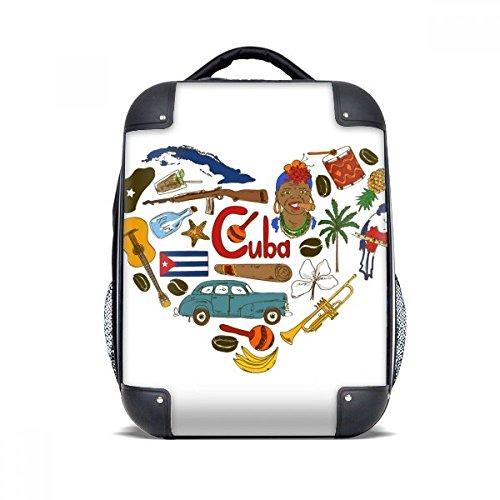 DIYthinker Kuba Love Heart Landscap Nationalflagge Hard Case Schulter Kind-Rucksack-Geschenk 15