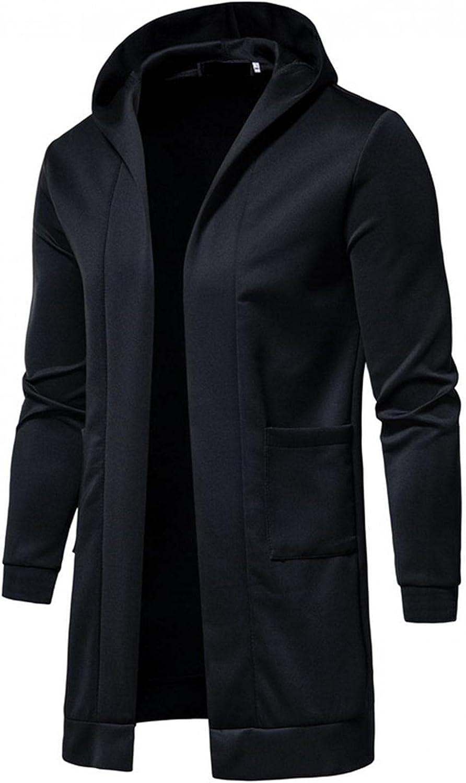 Mens Long Hoodies Super popular specialty store Cardigan Lightweight Ca Fit Jacket Hooded Superior Slim