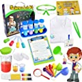 UNGLINGA Kids Science Kit Lab Coat Set First DIY Chemistry Experiment Activity Exploration STEM Toys, A Great Educational Gift Scientific Tools Pretend Play Scientist Costume for Boys Girls Age 4+ by UNGLINGA