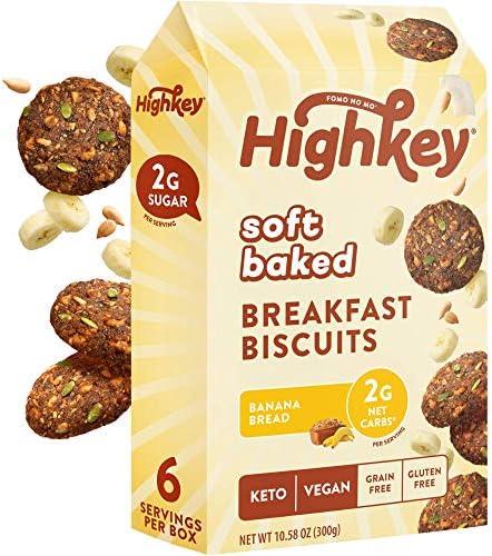 HighKey Keto Snacks Breakfast Cookies Bars Low Carb Vegan Granola Energy Bar Gluten Free Soft product image