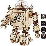 Zulux 3D Rompecabezas de Madera de Caja de música Craft Juguetes Mejores Regalos para Las Figuras Hombres Mujeres Niños Machinarium Bricolaje Robot con luz de cumpleaños de la Navidad
